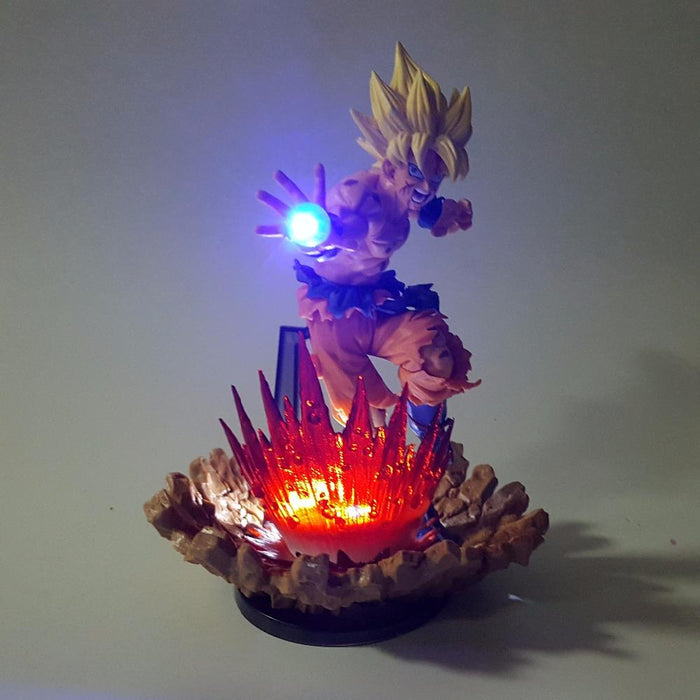 Goku Super Saiyan Kamehameha Power Up Led Light 150mm Anime Dragon Ball DBZ
