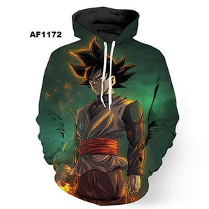 Dragon Ball Z 3D Hoodies Pullovers (ASIAN Size) - movie cartoon anime hoodie - Planet Vegeta