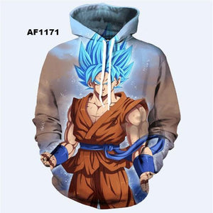 Dragon Ball Z 3D Hoodies Pullovers (ASIAN Size)