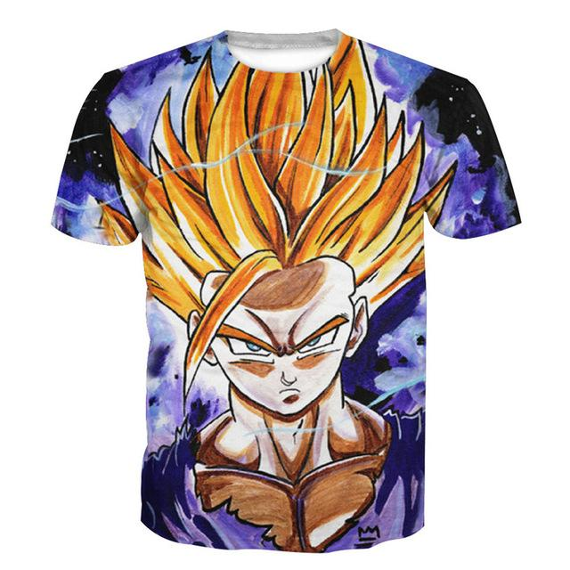 Dragon Ball t shirt Men Anime tshirt 3D Printed (ASIAN Size)