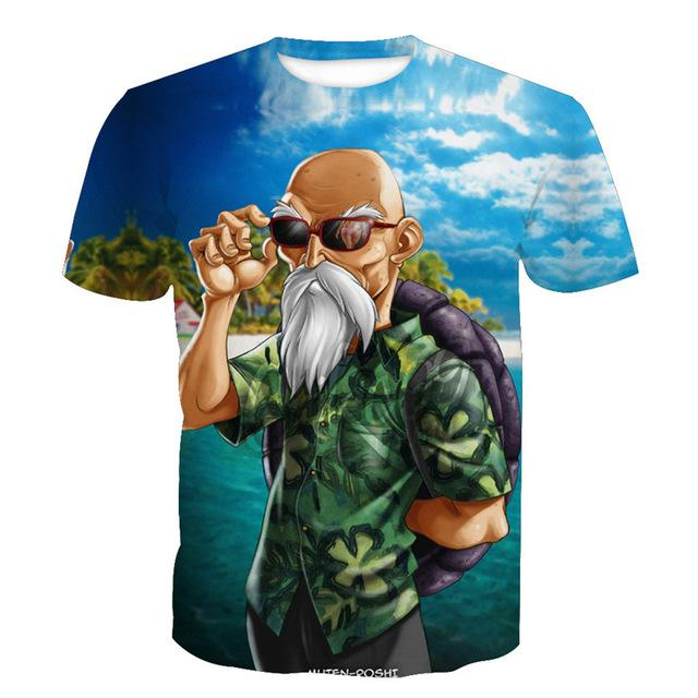 Dragon Ball t shirt Men Anime tshirt 3D Printed