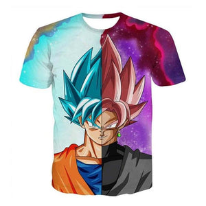 Dragon Ball 3D Printed T-shirt - Goku Vegeta (ASIAN Size)
