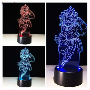 Dragon Ball Z Figure 3D Led Table Flash Goku Fly Effect Colorful Visual Illusion Remote Control USB Lamp - movie cartoon anime hoodie - Planet Vegeta