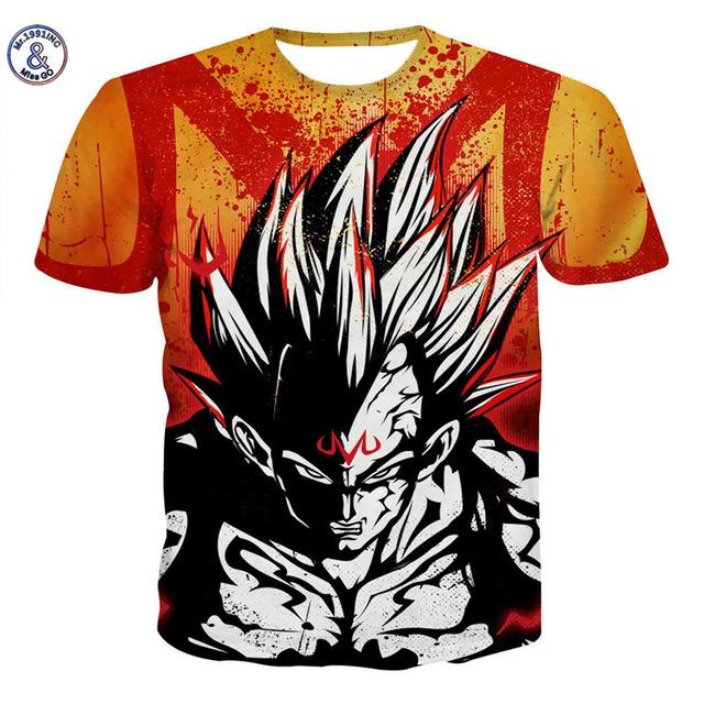 Dragon Ball 3D Printed Tshirts Collection 2 (ASIAN Size)