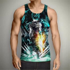 Tanktop Dragon Ball Z T-shirt Super Saiyan 3d T Shirt Tees 3D Hip Hop