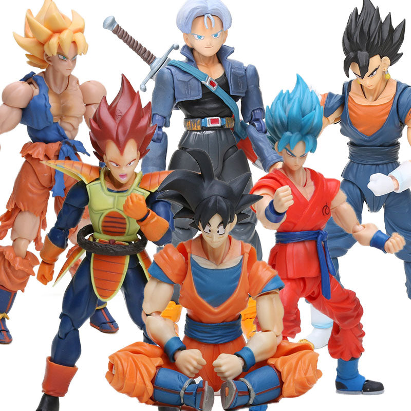 Super Saiyan Son Goku Vegetto Vegeta Trunks Action Figure