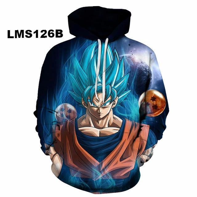 Dragon Ball 3D Hoodie Sweatshirts v1 (ASIAN Size)