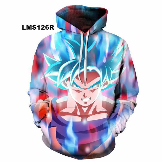 Dragon Ball 3D Hoodie Sweatshirts v3 (ASIAN Size)