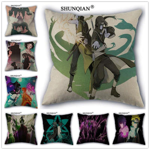 FLASH SALE Naruto pillowcase Custom Cotton Linen Throw Pillow Cover