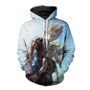 2017 New Fashion 3D Hoodeds Anime Dragon Ball Z Goku Super Saiyan Sweatshirts (ASIAN Size) - movie cartoon anime hoodie - Planet Vegeta