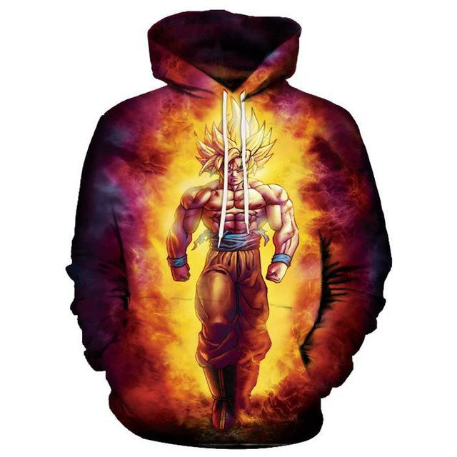 3d Hoodies Men Women Dragon Ball Z Print (ASIAN Size)