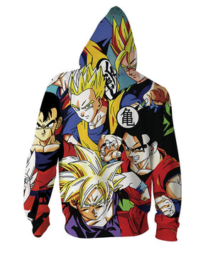 Top Selling Japanese Tops Sweatershirts Dragon Ball Cartoon Printing Hooded Fashion Men's Jacket For Youth