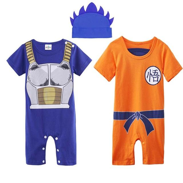 Baby Boys Vegeta Cosplay Toddler Jumpsuit Newborn Goku Super Saiyan Playsuits