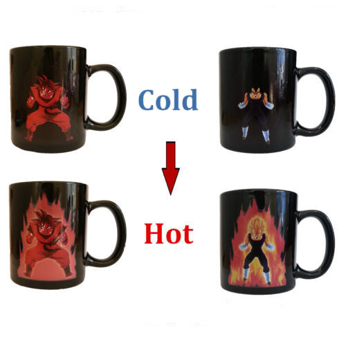 [TEST BUY 2 get discount product 2] Heat Reactive Dragon Ball Goku Vegeta Mug