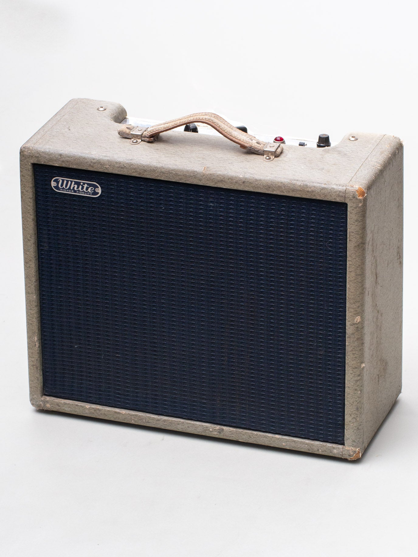 1962 Fender White Higher Fidelity Amplifier