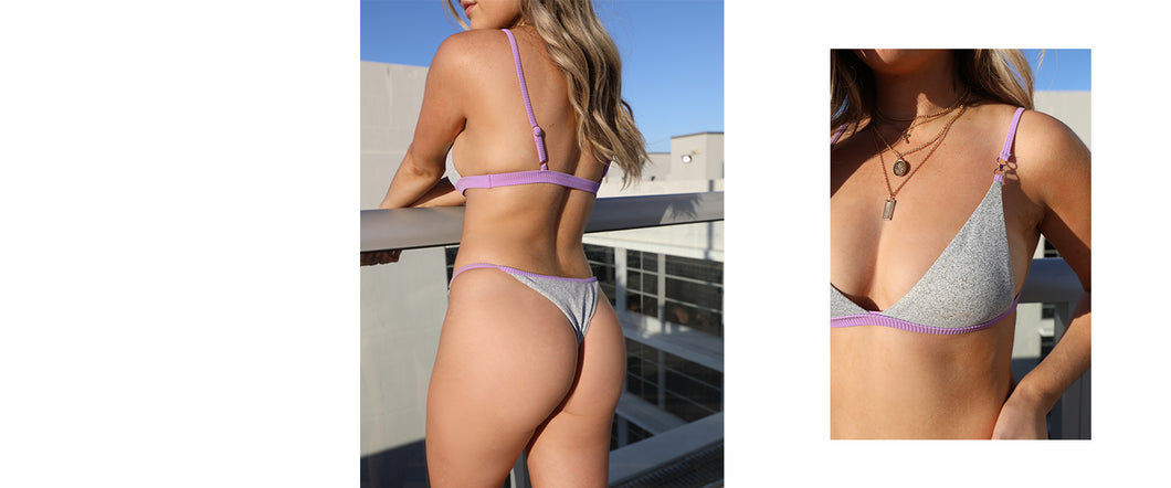 Casi Bottom in Ribbed Lilac
