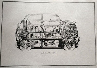 Austin Seven Mini 1959 (cutaway drawing)