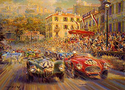 Monaco Grand Prix 1952 (CANVAS EDITION)*