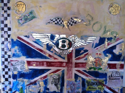 Canvas Print, Bentley-Boys, limited Serie of 49 pieces, handsigned