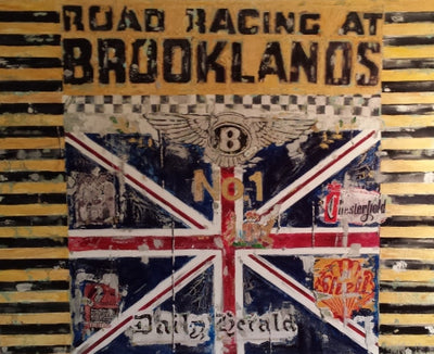 Paper Print, Brooklands, limited Serie of 49 pieces - Signed