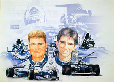 David Coulthard & Damon Hill
