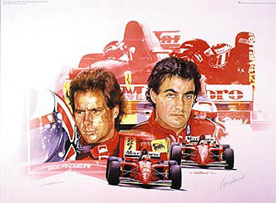 Gerhard Berger and Jean Alesi