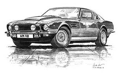 Aston Martin V8 - Limited Edition/Signed