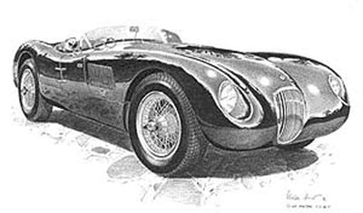 Jaguar C-Type - Signed