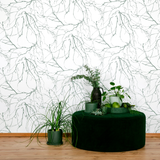 5329-2 Oksat wallpaper green