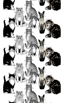 Kitties Fabric