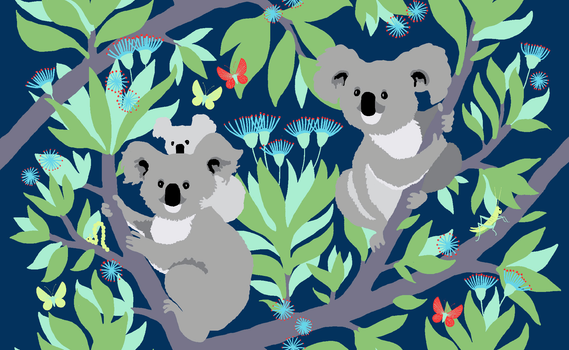 Koala Black Out Fabric