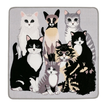 Kitties Rug 80x80 cm