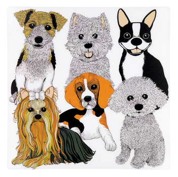 Doggies Placemat 37x37 cm whit