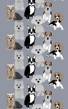 Doggies Fabric