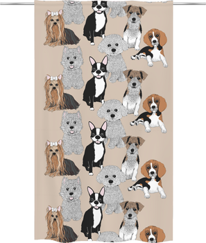 Doggies Curtain 140x240 cm