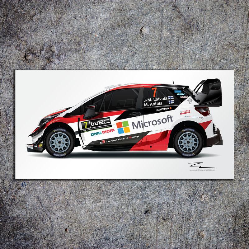 Illustration of TGR (Latvala) Aluminium HD Metal Print