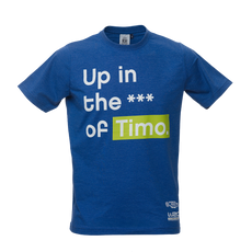 Neste Rally Finland Blue T-shirt -  Up in the a** of Timo