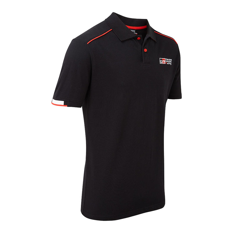 TOYOTA GAZOO Racing Men's Lifestyle Black Polo Shirt