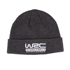 WRC Ribbed Grey Beanie