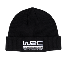 WRC Ribbed Beanie Black