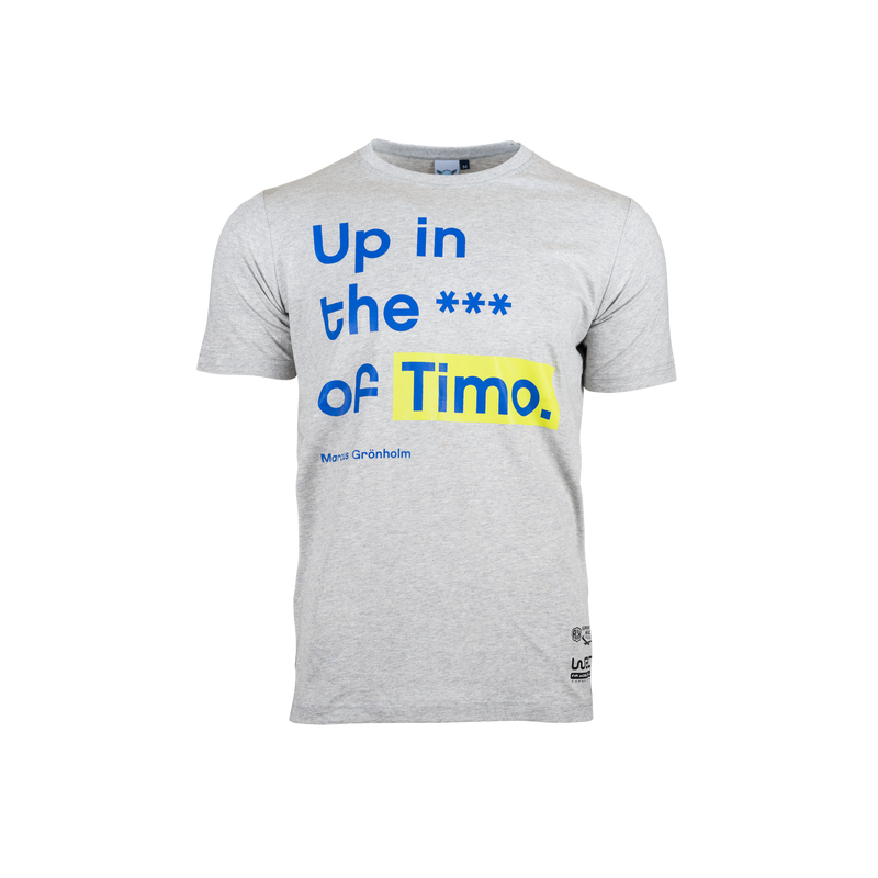 Neste Rally Finland Grey T-shirt -  Up in the a** of Timo