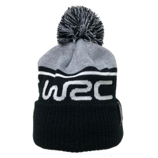 WRC Logo Bobble Beanie - Black/Grey