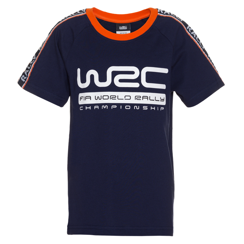 WRC Kids Sleeve Stripes T-Shirt Navy