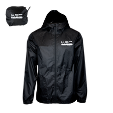 WRC Packable Rain Jacket Black