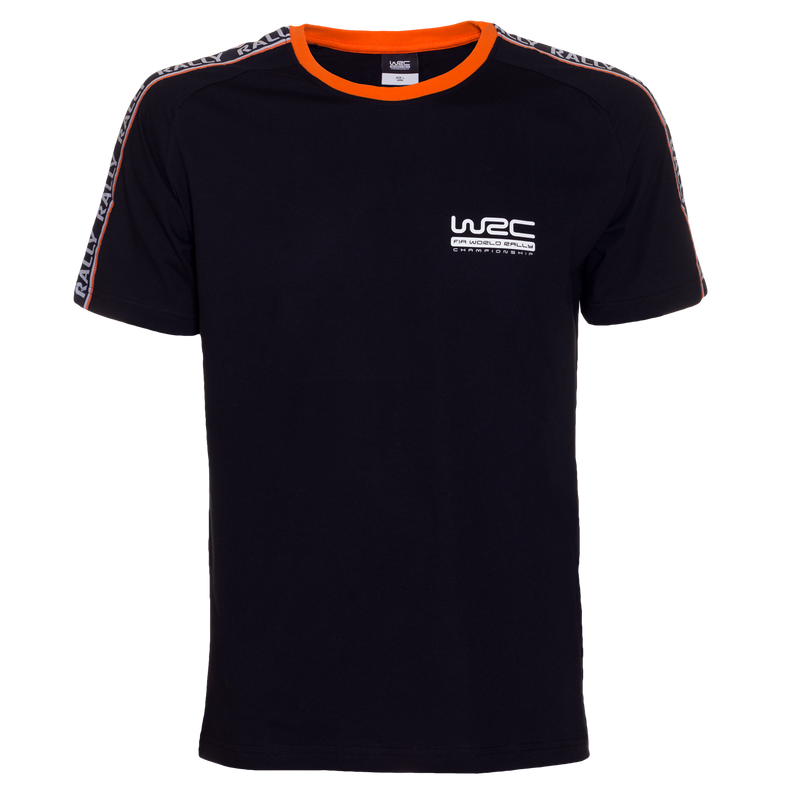 WRC Sleeve Stripes Black T-Shirt