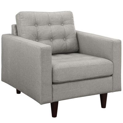 Wantism Anson Tufted Armchair Gray
