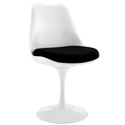 Wantism Tulip Swivel Side Chair Black