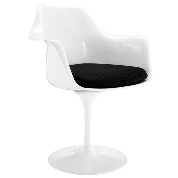 Wantism Tulip Swivel Armchair Black
