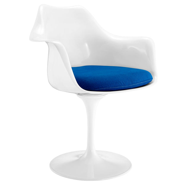 Wantism Tulip Swivel Armchair  Blue