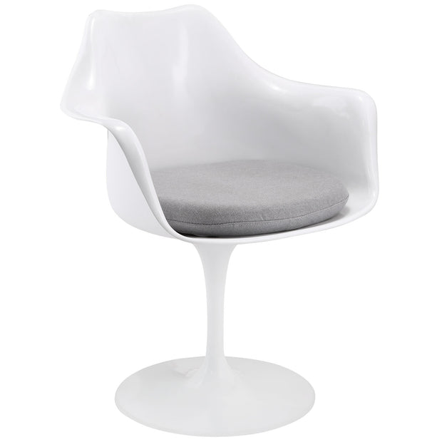 Wantism Tulip Swivel Armchair Gray